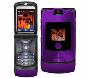 MOTORAZR V3i phone in Purple