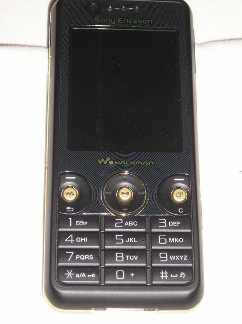 Sony Ericsson W660i oops the front again