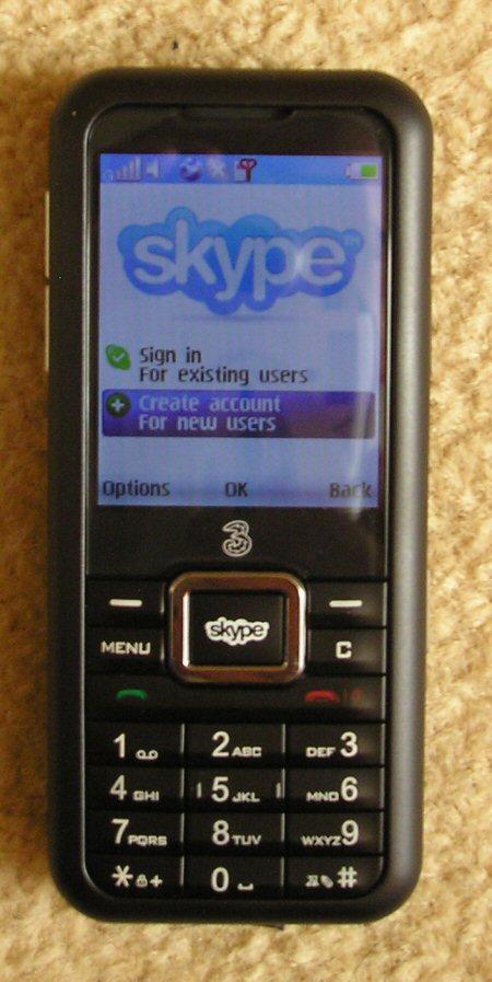 3skypephone showing skype