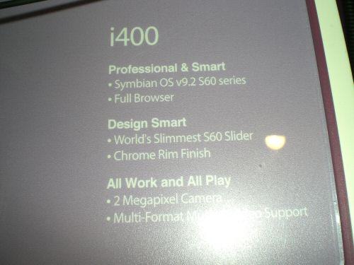 Samsung i400 specs