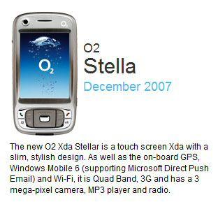 O2 Stella or Stellar XDA smartphone