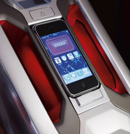 Apple iPhone in Land Rover LRX concept