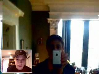 Apple iPhone used as webcam