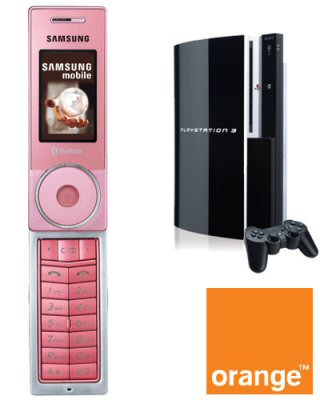 With Pink Ps3 Orange Phone X830 On Free Sony Network Samsung 40 Gb