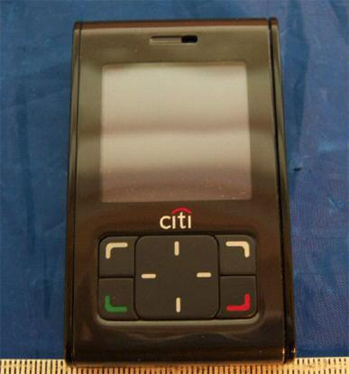 FCC update: phone that is NFC-equipped is seen with Citi logo