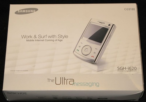 Samsung i620 windows mobile phone out of the box