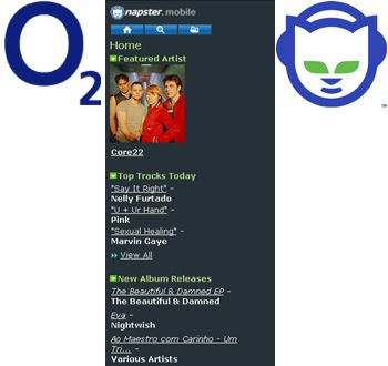 O2 UK gets Napster