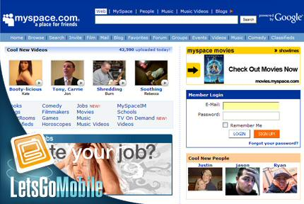 Sprint just one of many to get free MySpace Mobile