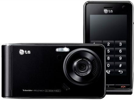 Black LG Viewty with 17 Months half price line rental on Orange