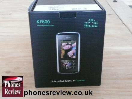 lg kf600 box interactive menu and camera