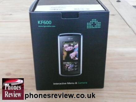 lg kf600 box interactive menu and camera