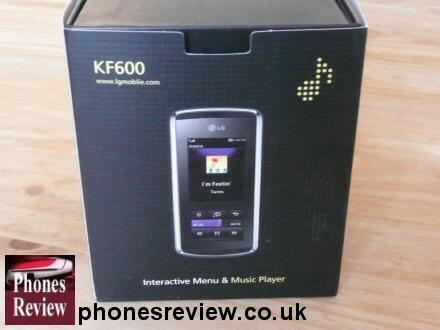lg kf600 box interactive menu and music player