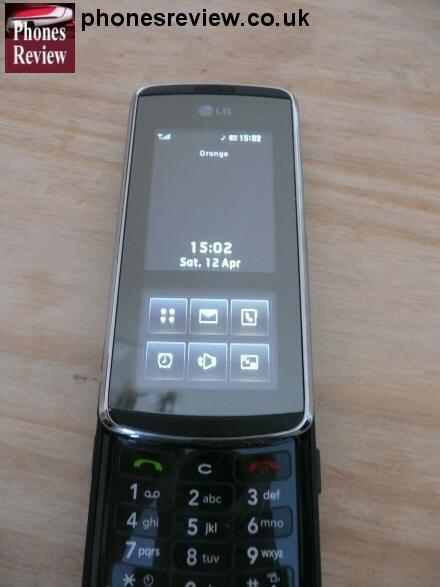 lg kf600 open screen