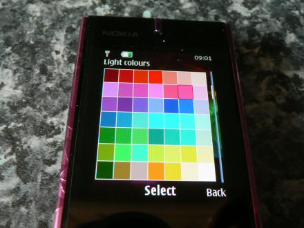 nokia 7900 prism light keypad light colour palette