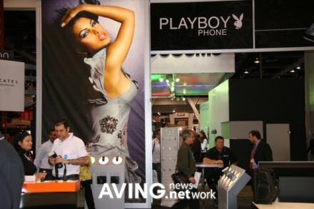 playboy branded mobile phone with sexy model pic 2