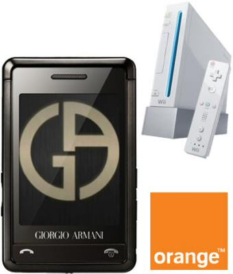 Samsung P520 Armani phone with FREE Nintendo Wii on O2