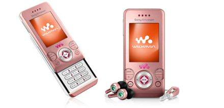 Sony Ericsson W580i Salmon Pink