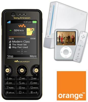 Sony Ericsson W660i Black with FREE Nintendo Wii + 4Gb Silver Apple iPod Nano
