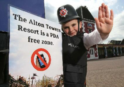 Alton Towers is banning PDAs.