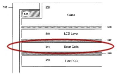 Have Apple filed a good enough patent? solar cells