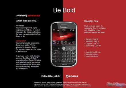 BlackBerry Bold Launch Events