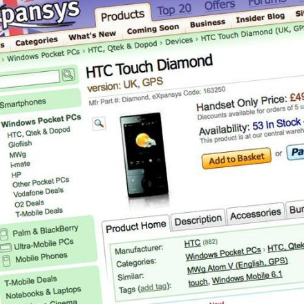 htc touch diamond on sale in uk