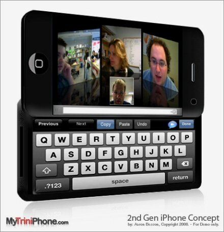 iPhone 3-G Slider With Virtual Keyboard