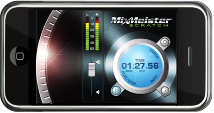 MixMeister DJ Scratch App for iPhone