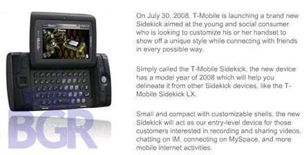 sidekick 2008