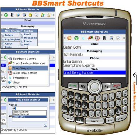 Crackberry Blackberry Shortcuts download