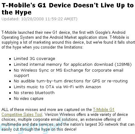 Verizon disabling wifi on blackberry storm and smear T-Mobile Google Android G1