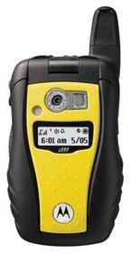 Motorola i580 rugged in vivid yellow available on Sprint