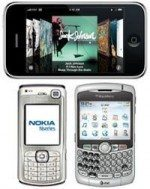 Apple iPhone, Nokia N70, BlackBerry 8300 top mobile web surfers