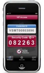 VeriSign password generator app for Apple iPhone