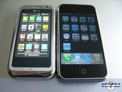 Is the LG Arena KM900 just an iPhone clone?