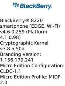 BlackBerry Pearl Flip New leaked 4.6.0.259 OS