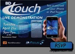 BD Touch 2-way communication between WiFi enabled mobile handsets
