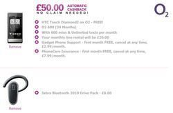 HTC Touch Diamond2 for free on contract with O2 UK