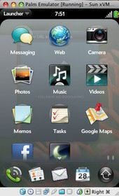 Palm News: New webOS screenshots of emulator for developers