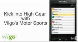 Video: F1, Indycar and NASCAR Viigo Motorsports app for BlackBerry