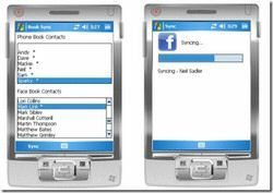 MobileSync syncs Facebook profile pics for Windows Mobile