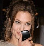 Angelina Jolie loves the Palm Pre not iPhone