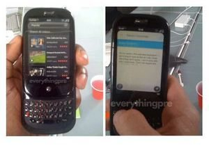 Palm Pre possibly running YouTube and email WebOS app
