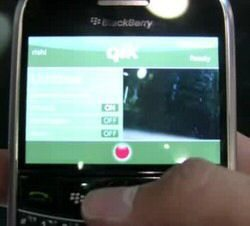 Video: BlackBerry streaming live video via Qik