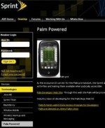 Palm WebOS web page up on Sprint Applications Developers website