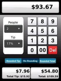 Best BlackBerry Apps: Tip Calculator on the Storm, 20 free copies