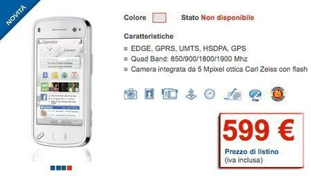 Nokia N97 heading for Italy via TIM for €599