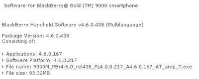 BlackBerry Bold on AT&T gets official update