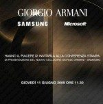 Samsung Armani Windows Mobile Smartphone Coming June 11th