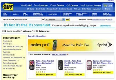 Palm Pre confirmed for Best Buy by Sprint Ad Banner